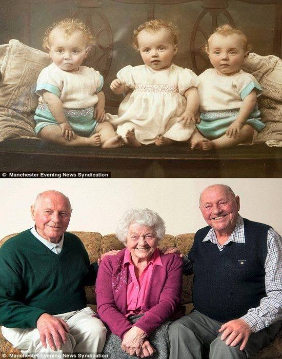 octogenarian triplets