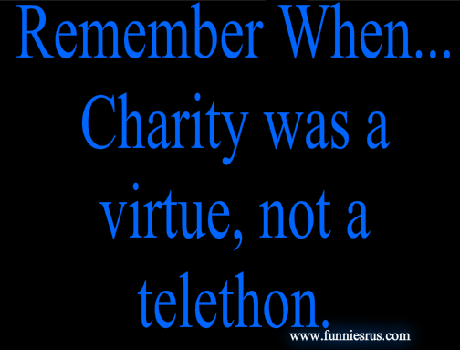 charity was a virtue